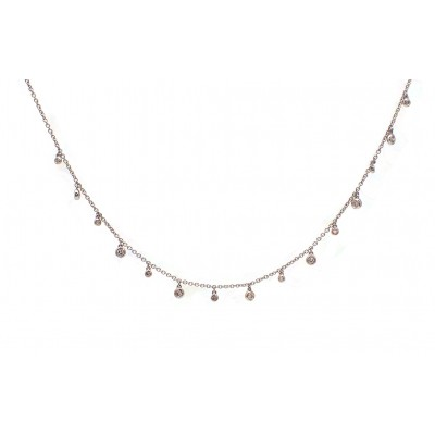 Diamond Bezel Drops Necklace