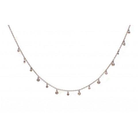 Diamond Bezel Drops Necklace