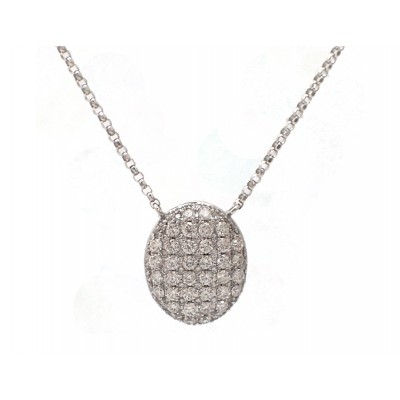 Diamond Oval Cluster Necklace