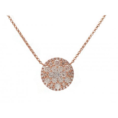Rose Gold Round Cluster Necklace