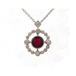 Antique Style Ruby Pendant