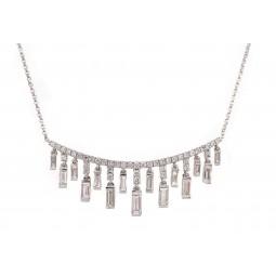 Dangling Baguette Necklace