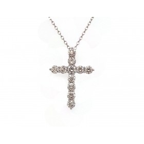 Diamond Cross Pendant - Large
