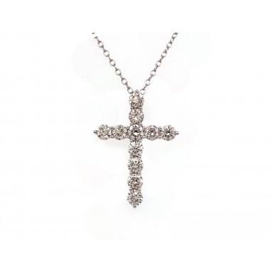 Diamond Cross Pendant - Large