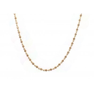 Diamonds by the Yard Necklace - Yellow Gold