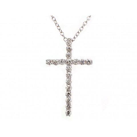 Diamond Cross Pendant - Medium