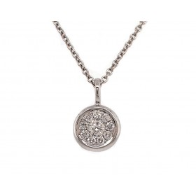 White Gold Bezel Disc Pendant