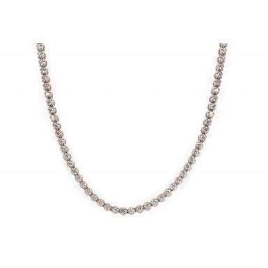 White Gold Diamond Tennis Necklace