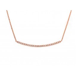 Curved Bar Necklace - Rose Gold