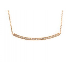 Curved Bar Necklace - Yellow Gold