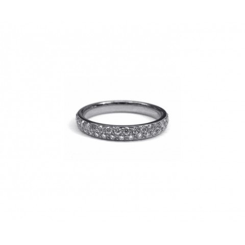 Pave Diamond Wedding Band (Thin)