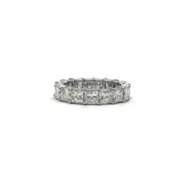 Radiant Cut Eternity Band