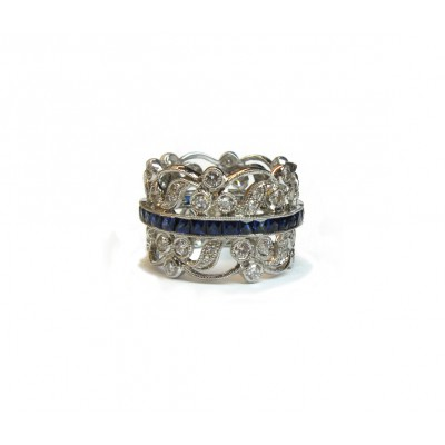 Sapphire Belt Wedding Ring