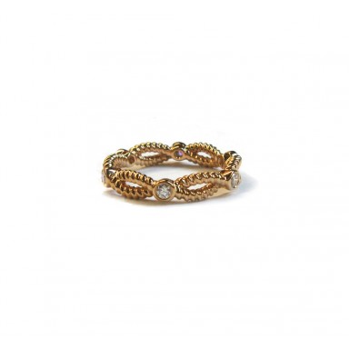 Rose Gold Twist Band