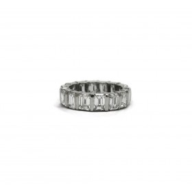 Emerald Cut Bar Set Eternity Band