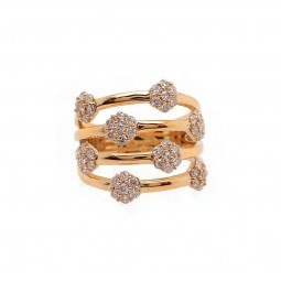 Yellow Gold Bubble Ring