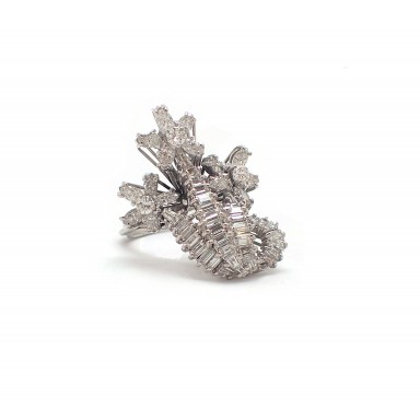 Bouquet of Diamond Fancy Cocktail Ring