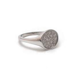 "Diamond ""Signet"" Ring"