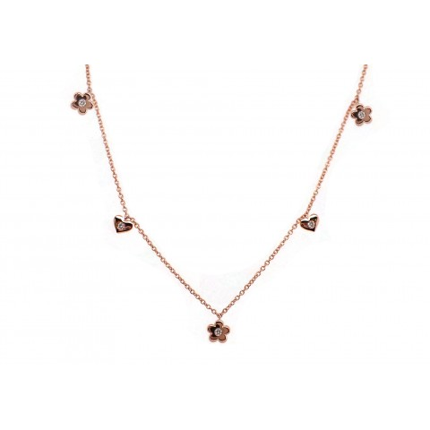 Hearts and Flowers Diamond Necklace